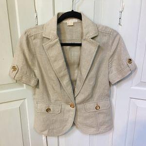 Michael Kors Beige Linen Jacket